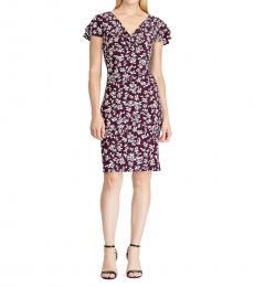 Reisin Cream Floral Ruffle-Sleeve Dress