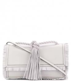 White Fringed Tasseled Large Crossbody