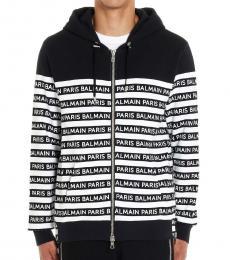 Balmain Blackwhite All Over Logo Jacket