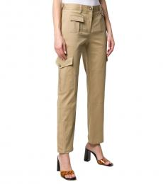 Dolce & Gabbana Beige Slim-Fit Cargo Trousers