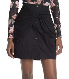 Black Ora Twisted Front Skirt