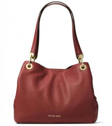 Brandy Red Raven Large Hobo