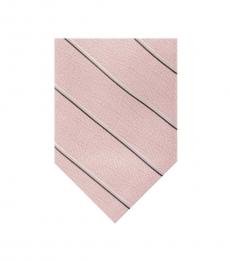 Michael Kors Pink Wide Bi-Color Stripe Tie