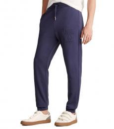 Love Moschino Dark Blue Embossed Logo Sweatpants