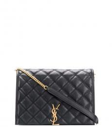 Saint Laurent Black Becky Medium Shoulder Bag