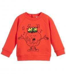 Baby Boys Red Graphic Sweatshirt