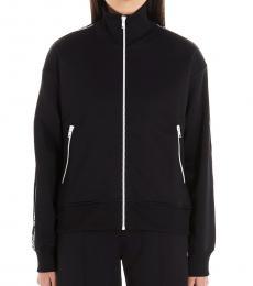 Kenzo Black Logo Side Tape Sweatshirt Jacket