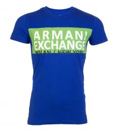 Royal Blue Slim Fit Logo T-Shirt