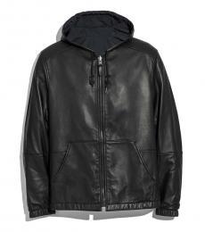Coach Black Reversible Leather Jacket