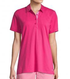 Tommy Bahama Pink Tropicool Polo Tee