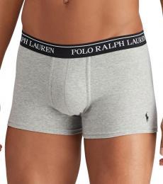 Ralph Lauren Grey 3-Pack Classic-Fit Trunks