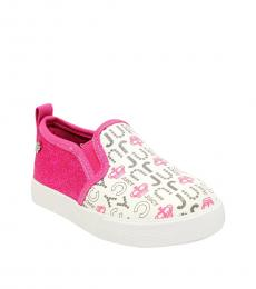 Juicy Couture Baby Girls White Pink Petaluma Loafers