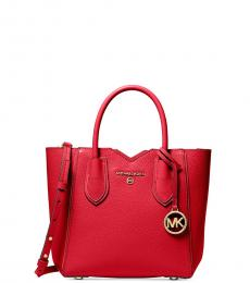 Michael Kors Bright Red Mae Small Satchel