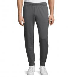 Emporio Armani Dark Grey Drawstring Jogger Pants