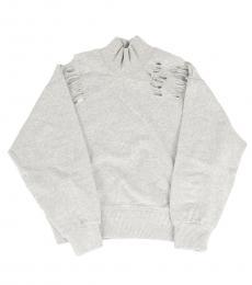 Diesel Little Girls Light Grey Vintage Sweatshirt