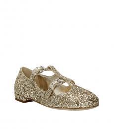 Gold Glitter Ballet Flats