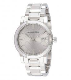 Burberry Silver Logo Watch