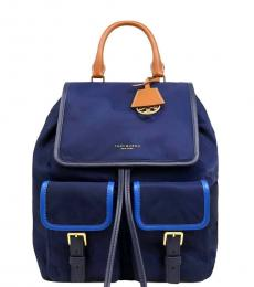 Tory Burch Blue Perry Medium Backpack