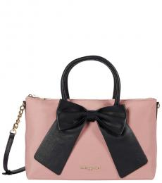 Karl Lagerfeld Dusty Rose Kris Medium Satchel