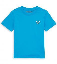 True Religion Little Boys Malibu Blue Logo T-Shirt