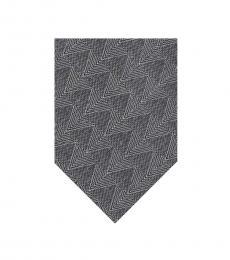 Calvin Klein Grey Zig Zag Pattern Tie