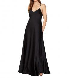 BCBGMaxazria Black Satin Evening Formal Dress