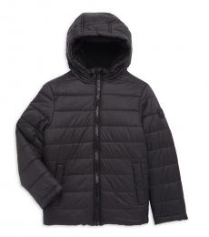 Michael Kors Little Boys Black Faux Fur Lined Quilted Puffer