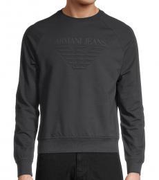 Armani Jeans Dark Grey Logo Sweatshirt