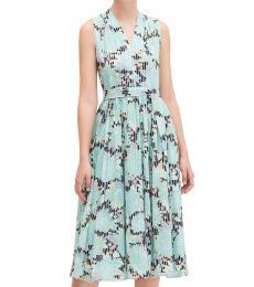 Kate Spade Black Pattern Dahlia Bloom Burnout Midi Dress