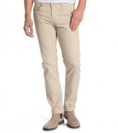 AG Adriano Goldschmied Beige Tellis Slim Jeans
