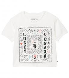 Lucky Brand Girls Cloud Dancer Bandana T-Shirt