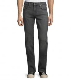 7 For All Mankind Dark Grey Squiggle Super-Skinny Jeans