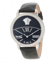 Versace Black Logo Watch
