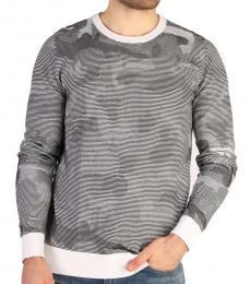 Calvin Klein Grey Camo Print Sweater