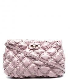 Valentino Garavani Light Purple Spikeme Large Crossbody Bag