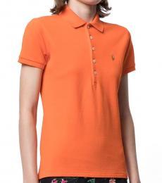 Ralph Lauren Orange Classic Stretch Fit Polo