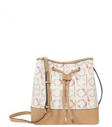 Calvin Klein Off White Gabrianna Small Bucket Bag