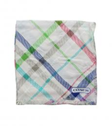 Coach Off-White Tattersall Plaid Scarf
