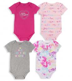 Juicy Couture 4 Piece Bodysuit Set (Baby Girls)