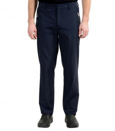 Navy Blue Stretch Casual Pants