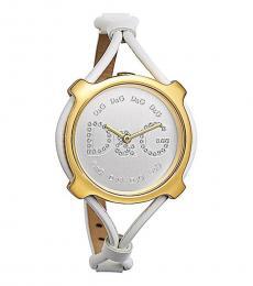 White Petite Striking Watch