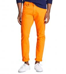 Ralph Lauren Orange Varick Slim Straight Jean