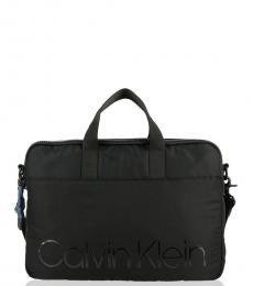 Calvin Klein Black Trail Large Briefcase Bag