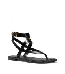 Michael Kors Black Pearson Leather Flats