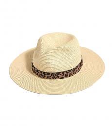 Leopard Ribbon Packable Hat