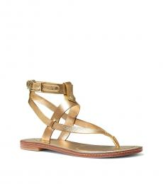 Michael Kors Pale Gold Pearson Leather Flats