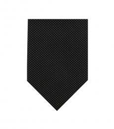 DKNY Black Micro Dash Tie