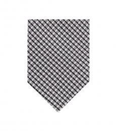 DKNY Black White City Check Tie