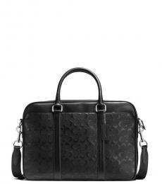 Coach Black Slim Embossed Large Briefcase Bag