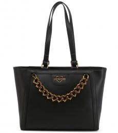 Love Moschino Black Chain Large Tote
